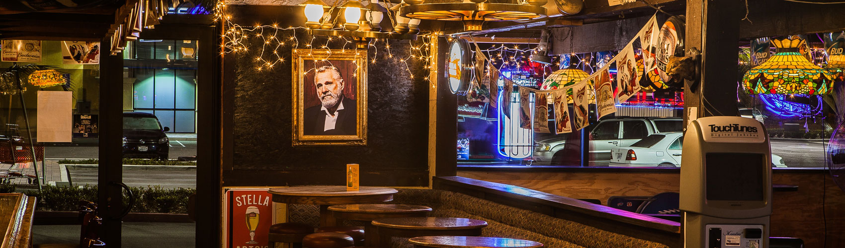 picture of a bar with the most interesting man in the world