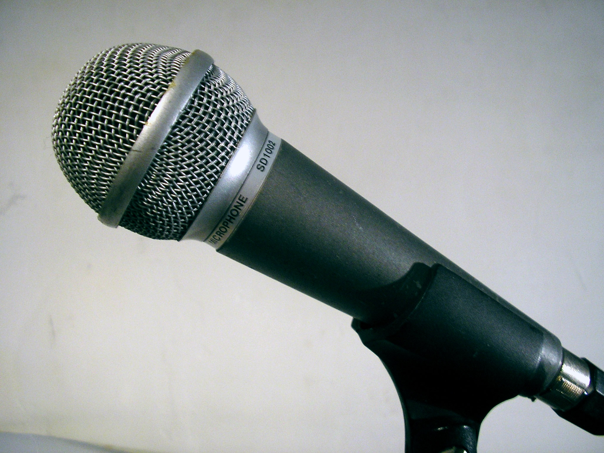 image of a microphone for open mic night